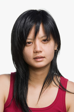 asian women: Portrait of a young adult woman Stock Photo