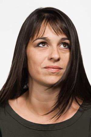 mid adult: Portrait of mid adult Caucasian woman