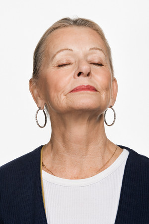 woman pose: Portrait of mature adult woman
