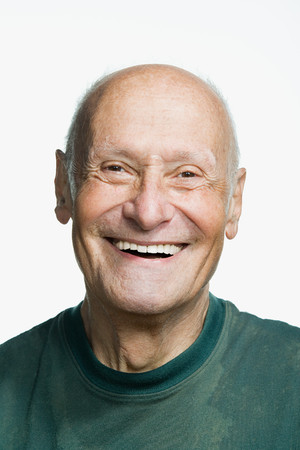 old man smiling: Portrait of a senior adult man