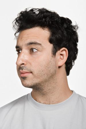 headshot: Portrait of mid adult Caucasian man Stock Photo