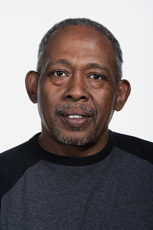 black and white photography: Portrait of mature African American man