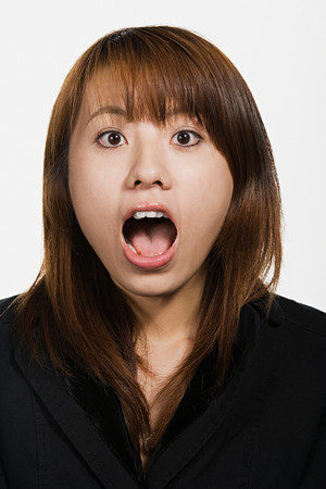 captivated: Portrait of young adult Asian woman Stock Photo