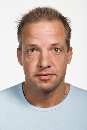 Portrait of mid adult Caucasian man 写真素材