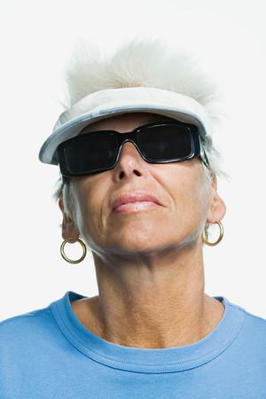 Portrait of a mature adult woman Banco de Imagens