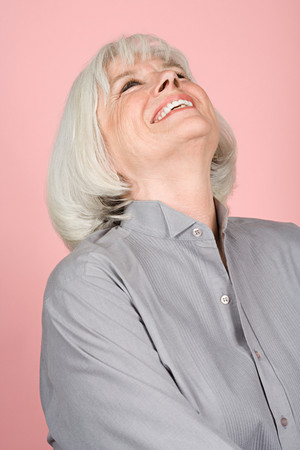 portrait of young woman: Happy woman