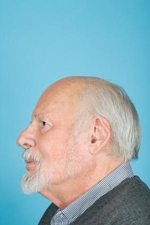 man profile: Profile of a senior man Stock Photo