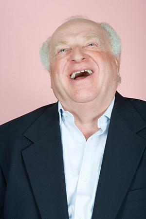 double chin: Happy man