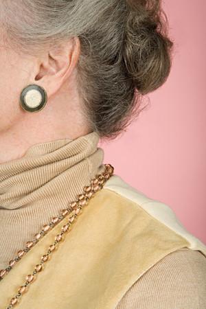 Senior woman wearing jewelery
