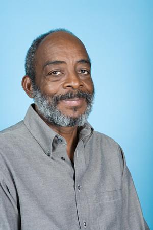 man shirt: Senior african american man