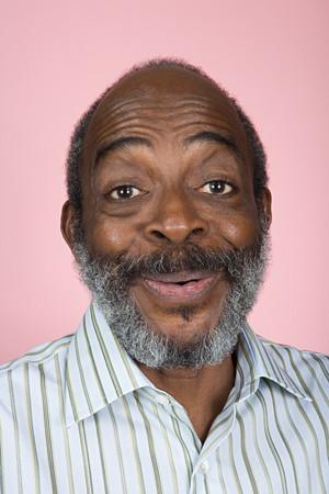 raised eyebrow: Portrait of a senior adult man