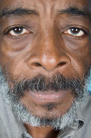 senior african: Senior african american man
