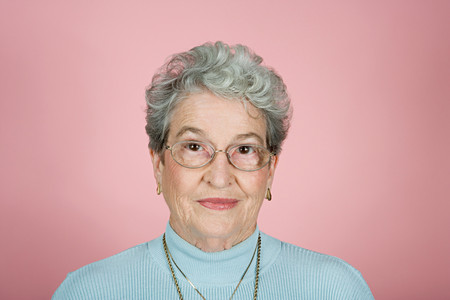 woman looking: Portrait of a senior adult woman