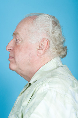 image source: Profile of a senior man Stock Photo