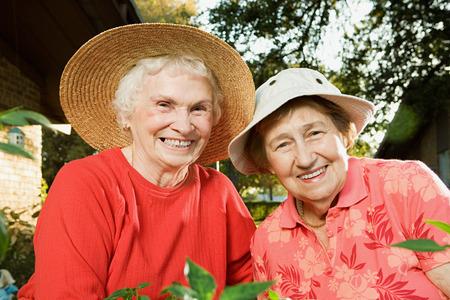 nursing sister: Portrait of two senior women