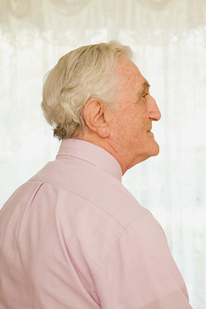 man profile: Portrait of an elderly man