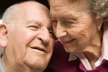 trust people: Portrait of a senior couple