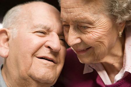 contented: Portrait of a senior couple