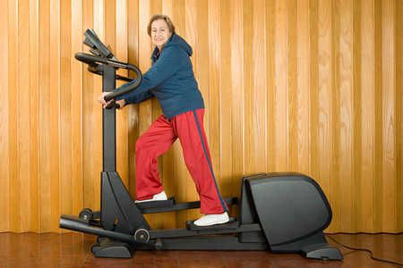 image source: Senior woman walking on a treadmill