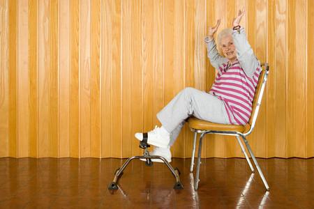 senior woman exercising: Senior woman exercising Stock Photo