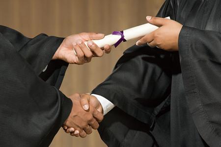 学生卒業式 写真素材