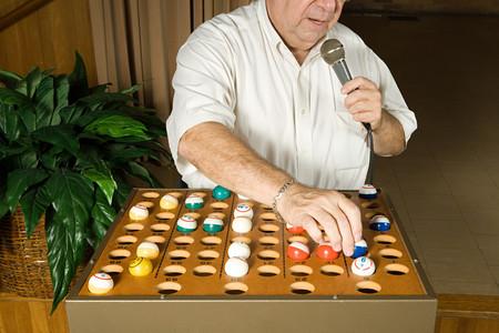 caller: Bingo caller at work