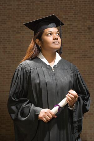 jamaican ethnicity: Female graduate holding a diploma Stock Photo