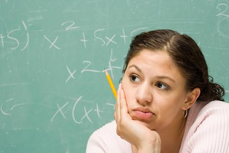university education: Portrait of a female student Stock Photo