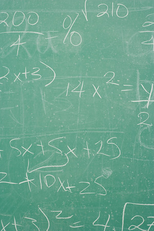 standstill: Formula written on a blackboard