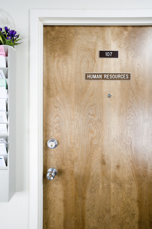 standstill: Human resources office door