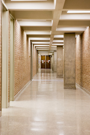Empty corridor Standard-Bild