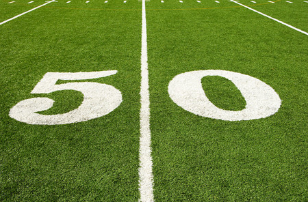 Fifty yard line Reklamní fotografie