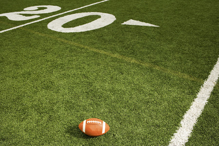 football match lawns: American football on the field