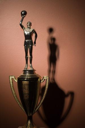 male likeness: Basketball trophy Stock Photo