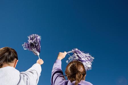 Girls cheerleading 写真素材