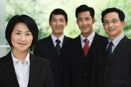 asia women: Four Chinese businesspeople