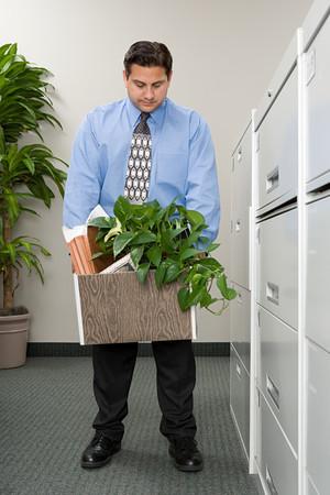 belonging: Man with belonging in a box