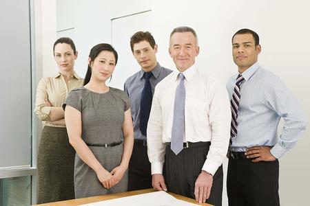 career man: Five business colleagues