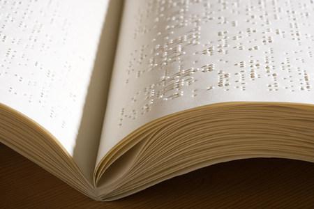 braile: libro en braille Foto de archivo