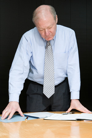 individually: Businessman with paperwork Stock Photo