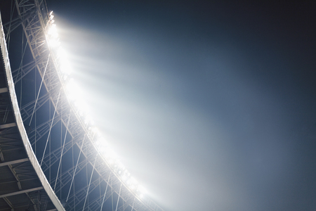 View of stadium lights at night Stok Fotoğraf