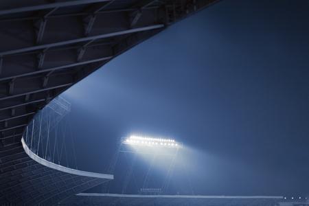 Vue des lumières du stade la nuit Banque d'images