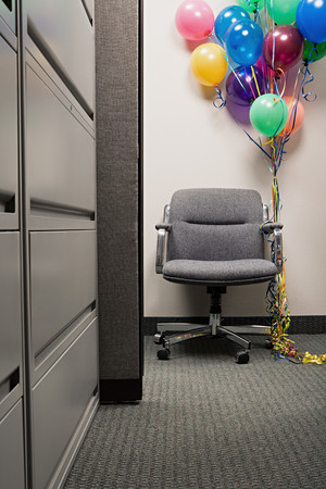 image source: Bunch of balloons tied to office chair