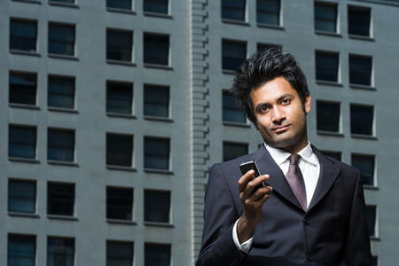 Businessman with mobile phone