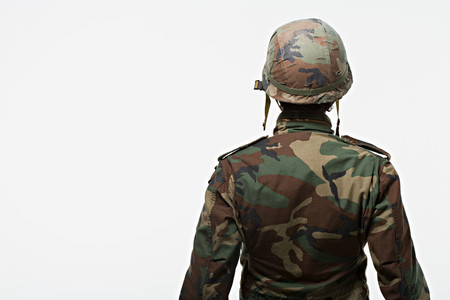 image source: Rear view of soldier