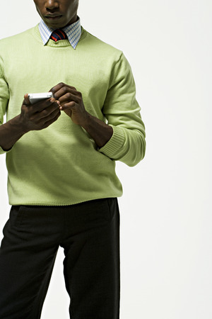handheld computer: Portrait of a businessman