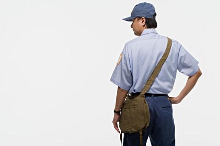 mail man: Portrait of a postman Stock Photo