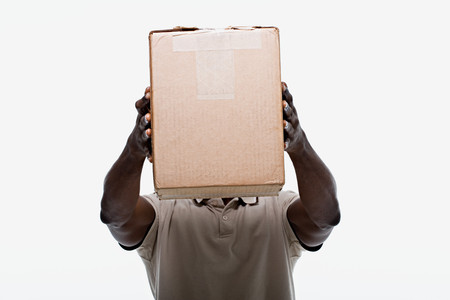 image source: Portrait of a delivery man Stock Photo