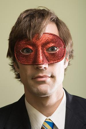 マスクをかぶった男 写真素材