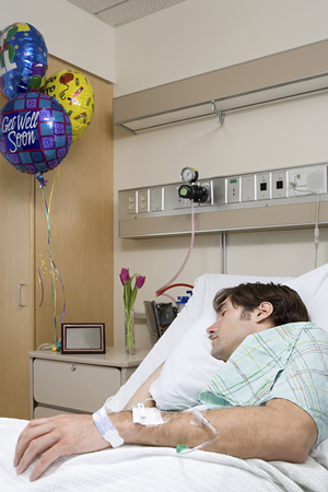 Hospital patient sleeping Фото со стока